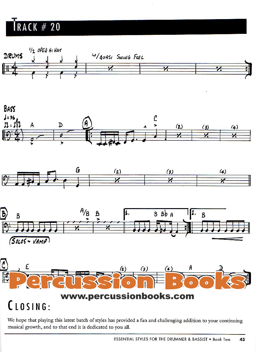 Book Two Essential Styles For The Drummer And Bassist