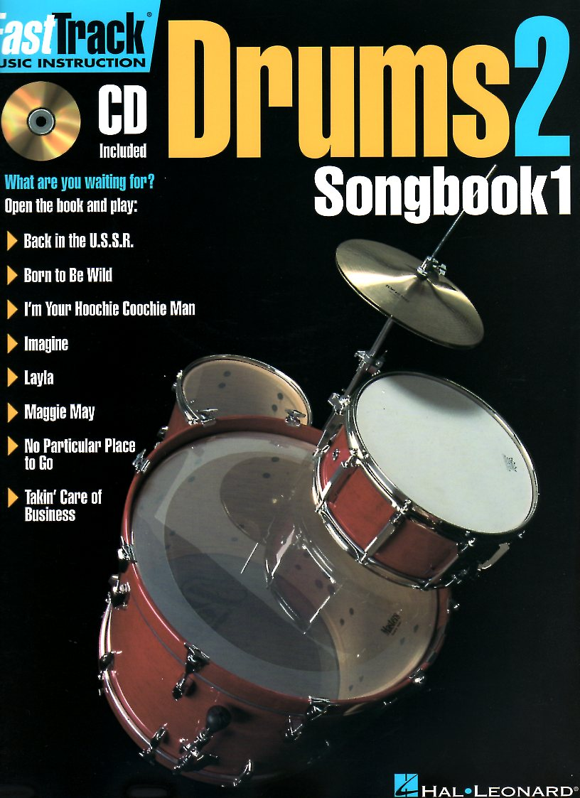 Fast Track Drums 2 Songbook 1 + CD - Percussion Books