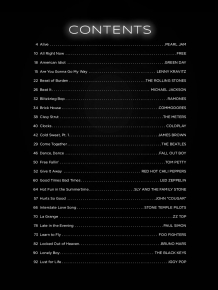 The First 50 Songs You Should Play On Drums table of contents